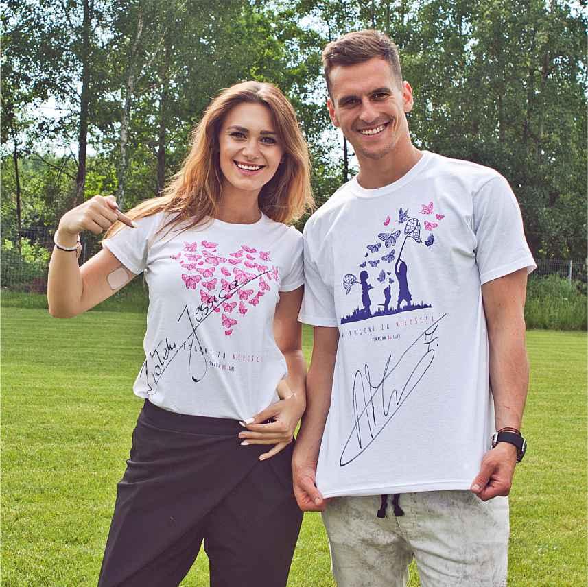 Arek Milik i Jessica Ziółek